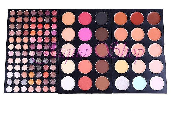 Lançamento no Brasil Paleta profissional 114 cores - Sombras, blush e Corretivo