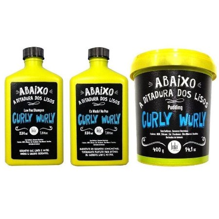 Lola Combo Curly Wurly Low Poo + Shampoo 230ml Co Wash / No Poo 230ml + Pudding 400g