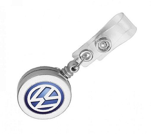Porta Crachá Retrátil Personalizado - Roller Clip (Cento)
