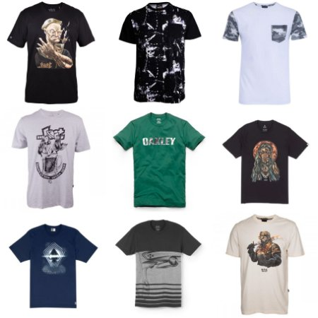 Camisetas Marcas Surf para Atacadistas - Lotes de 100 até 500 peças