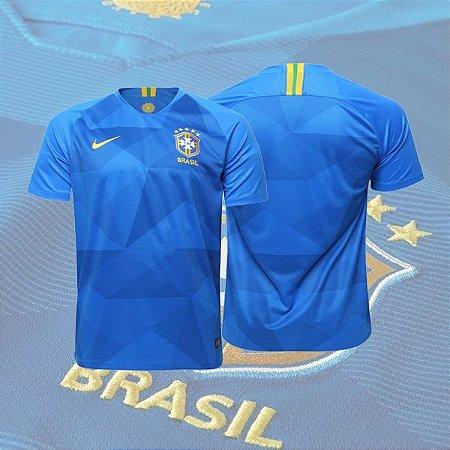 c11499e078 Camisa Seleção Brasil II 2018 S N° - Torcedor Nike - Azul - Atacado ...