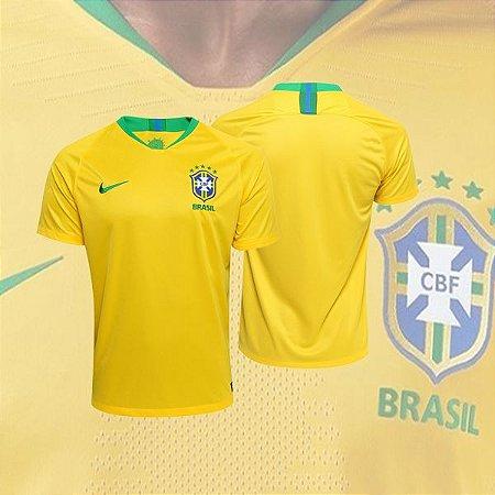 848ca63d86 Camisa Seleção Brasil I 2018 S N° - Torcedor Nike - Amarela ...