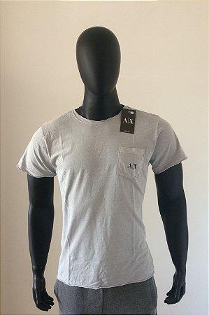 78c6f3eece f6001bb7235 Camiseta Armani Exchange Cinza - Malha Lavada - Atacado - Preço  de Liquidação - 11 ...