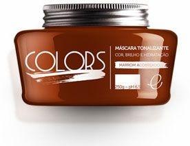 Portier Colors Matizador Hidratante Marrom Acobreado 250gr Fine Cosméticos