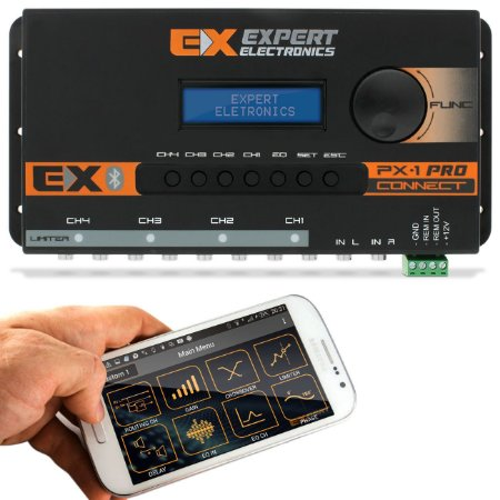 Processador de Audio PX1 Connect Expert Electronics - 4 Vias - Bluetooth