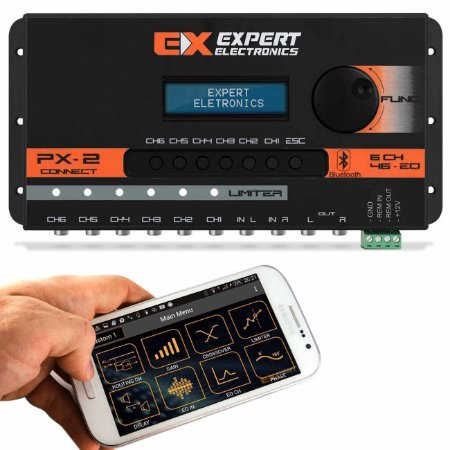 Processador de Audio PX2 Connect Expert Electronics - 6 Vias - Bluetooth