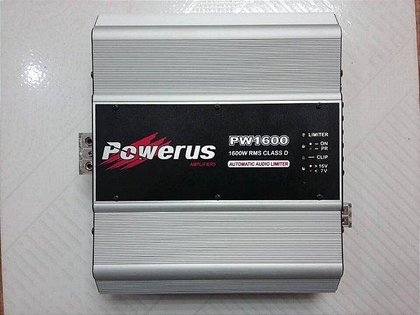 Amplificador Powerus PW1600 BLACK 2500 Watts RMS - Classe D