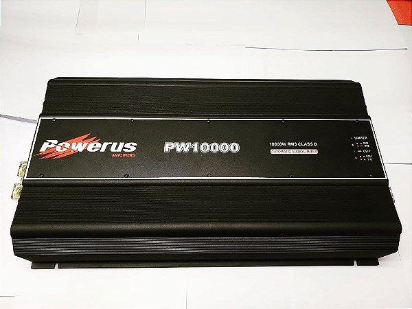 Amplificador Powerus PW10000 BLACK 11900 Watts RMS - Classe D