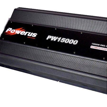 Amplificador Powerus PW15000 BLACK 17808 Watts RMS - Classe D