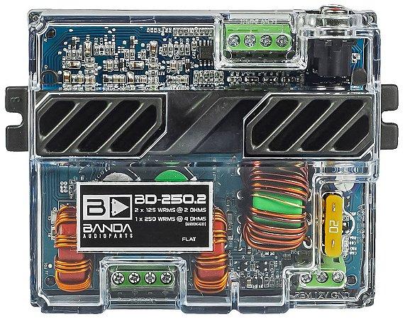 Amplificador Banda Audioparts POCKET 250.2 250 Watts RMS 2 Canais