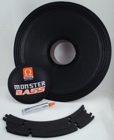 Kit Reparo Woofer Omega Driver Monster Bass 15 Pol 900 Watts RMS
