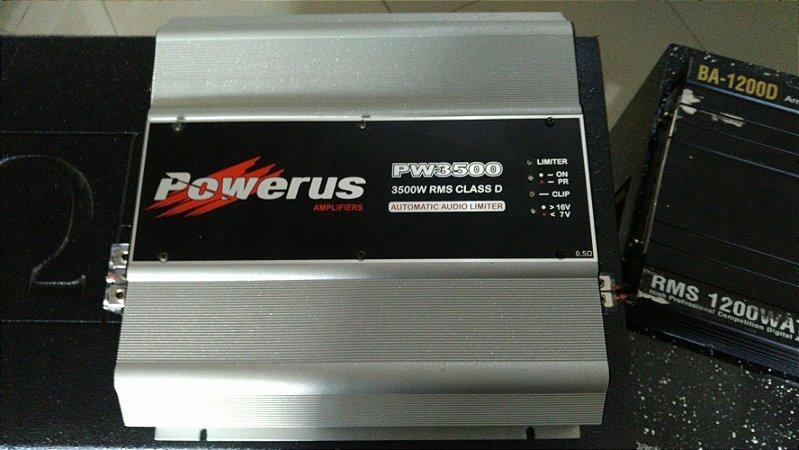 Amplificador Powerus PW3500 0.5 Ohm - SEMINOVO
