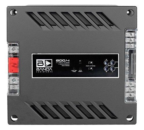 Amplificador Banda Audioparts 800.4 800 Watts RMS 4 Canais