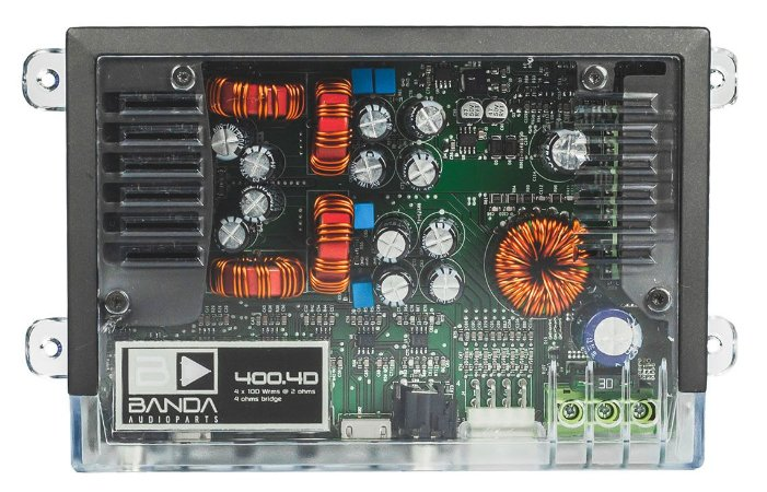 Amplificador Banda Audioparts 400.4 400 Watts RMS 4 Canais