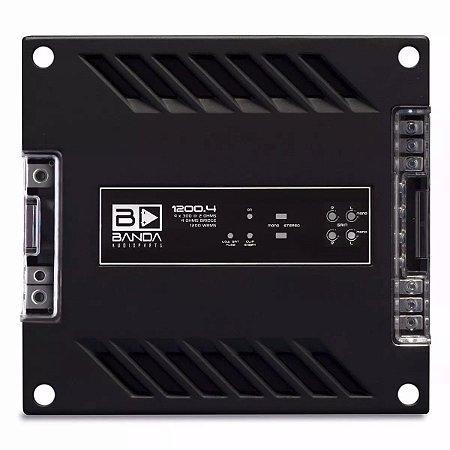 Amplificador Banda Audioparts 1200.4 1200 Watts RMS 4 Canais