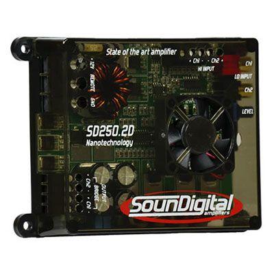 Amplificador SounDigital SD250.2 NANO 250 Watts RMS 2 Canais