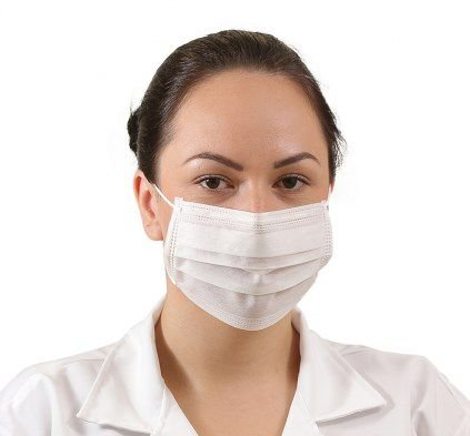 Máscara de Higiene TNT Tripla - Descartável