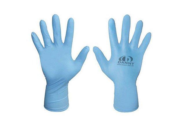 Luva Descartável de Procedimentos - Nitrílica Azul