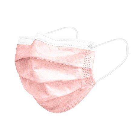 Máscara de Higiene TNT Tripla ROSA - Pacote com 50un