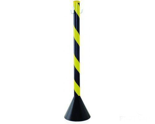Pedestal de PVC Zebrado - 90cm (Preto e Amarelo)