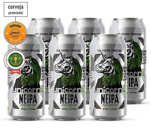 CERVEJA UNICORN NEIPA CAIXA C/ 6 LATAS 473 ML