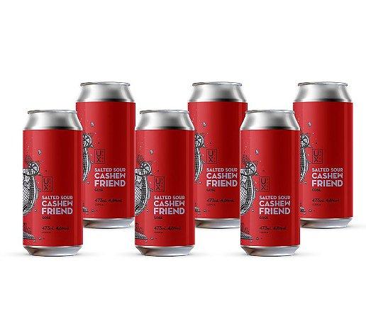 Cerveja UX Brew Salted Sour Cashew Friend Caixa C/6 Latas 473ML