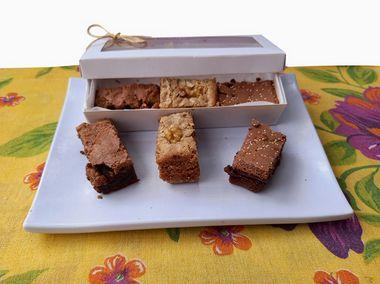 Brownie 6 bocados Mix 3 Sabores