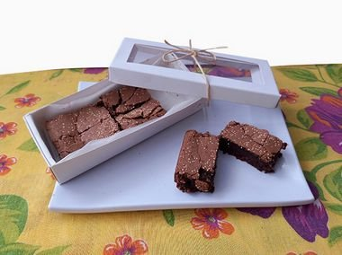Brownie Glúten free de farinha de amendoim e amaranto