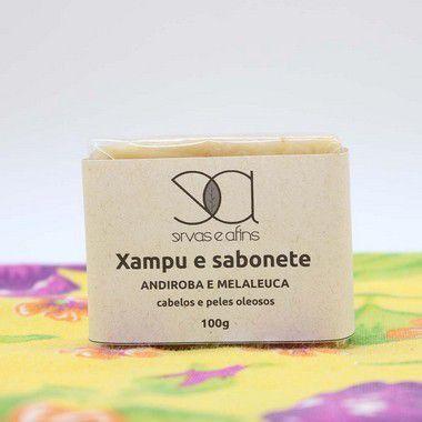 Xampus Sólido Andiroba e Melaleuca (cabelos e peles oleosos) 100g