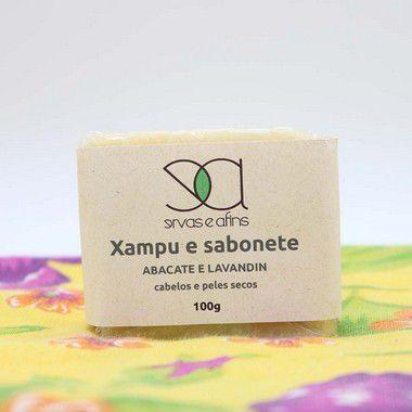 Xampus Sólido Abacate e Lavandin (cabelos e peles secos) 100g