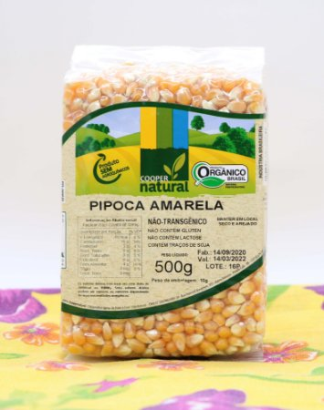 Milho de Pipoca Amarela 500g