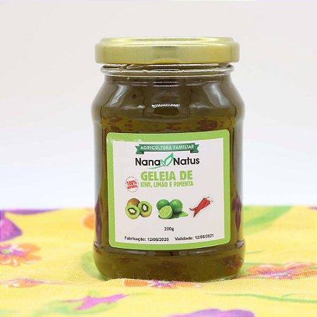 Geleia de Kiwi,Limão e Pimenta 200g