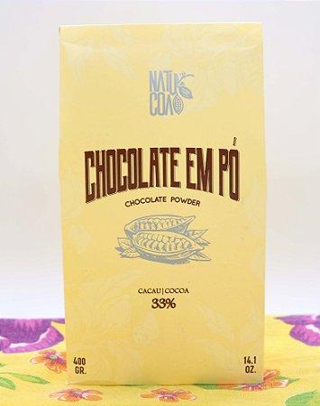 Chocolate em pó 33% 400g