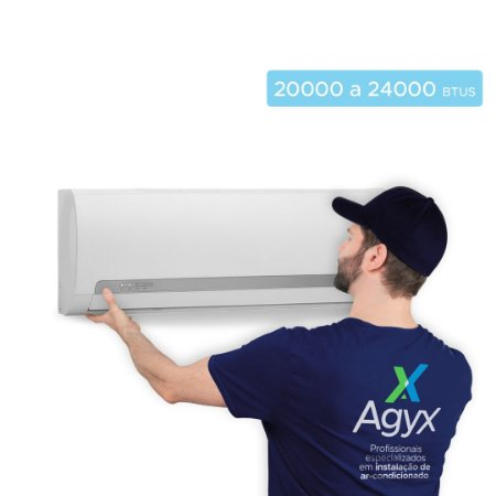 Instalação Ar-Condicionado Split Parede 20000 a 24000 Btus - Só Frio/ Quente e Frio/ Inverter