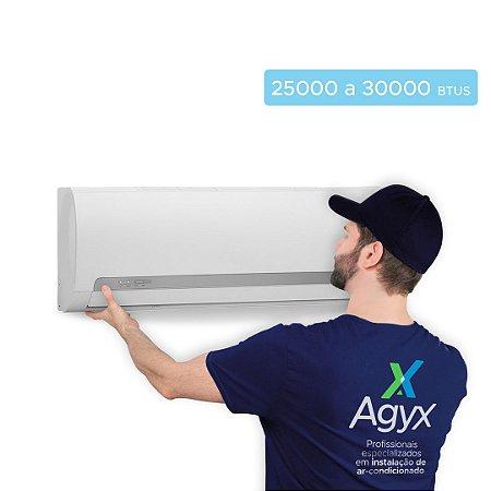 Instalação Ar-Condicionado Split Parede 25000 a 30000 Btus - Só Frio/ Quente e Frio/ Inverter