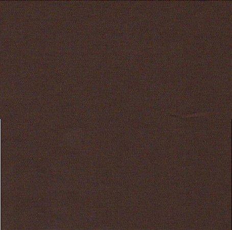 Tecido 100% algodão Liso Marrom Escuro - 0,50 metro