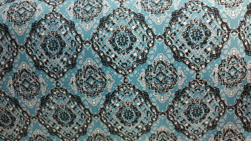 Tecido 100% algodão - Estampa Bandana Pequena Azul 0,50 metro