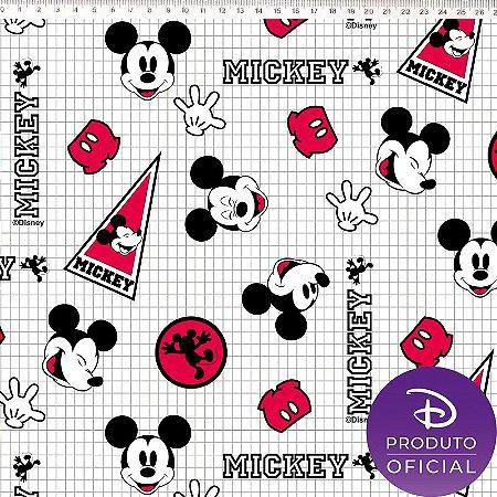 Tecido 100% algodão - Estampa Mickey - 0,50 metro
