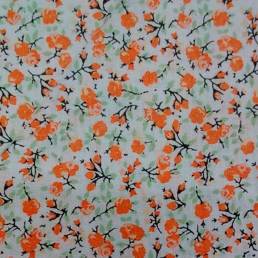 Tecido 100% algodão - Estampa Floral - 0,50 metro