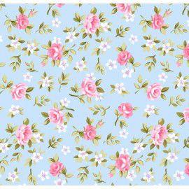 Tecido 100% algodão - Estampa Floral Lucia - 0,50 metro