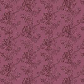 Tecido 100% algodão - Estampa    Flores com Ramos Uva       -  0,50 metro
