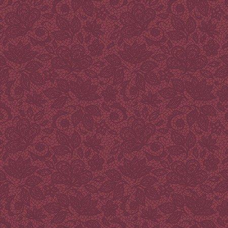 Tecido 100% algodão - Estampa  Renda Uva          -  0,50 metro