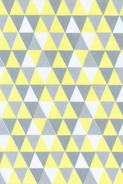 Tecido 100% algodão - Estampa Triangulo Amarelo -  0,50 metro
