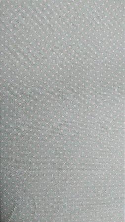Tecido 100% algodão - Estampa Poá Verde Claro com Bolinhas Brancas -  0,50 metro
