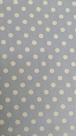 Tecido 100% algodão - Estampa Poá  com Bolas Brancas -  0,50 metro