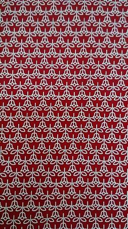 Tecido 100% algodão - Estampa Florzinha Vermelha -  0,50 metro
