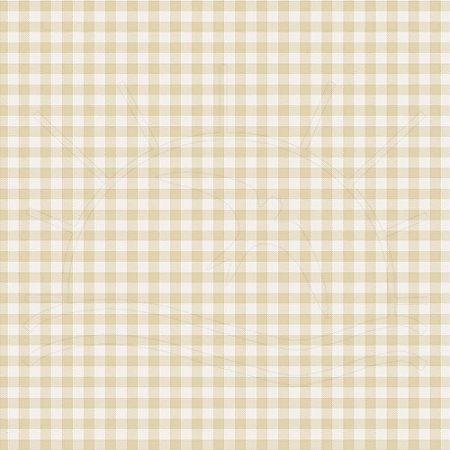 TEcido 100% algodão - Estampa Xadrez Pequeno  Bege-  0,50 metro
