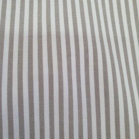 Tecido 100% algodão - Estampa Listrado Cinza -  0,50 metro