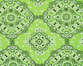 Tecido 100% algodão - Estampa Bandana Verde - 0,50 metro