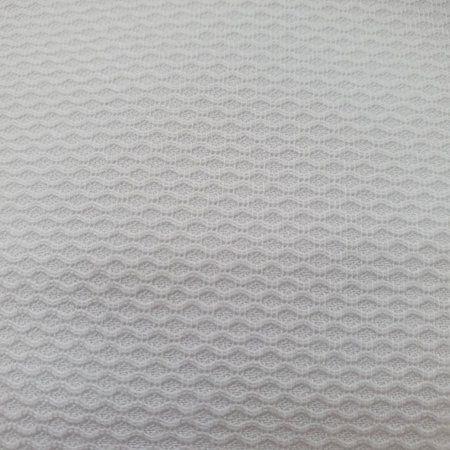 Tecido 100% algodão Piquet Favinho Branco Grande - 1 metro
